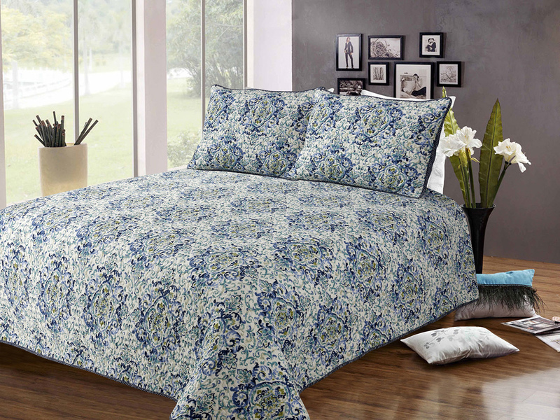 Blue Lavender Quilt <br>by Peace Arch