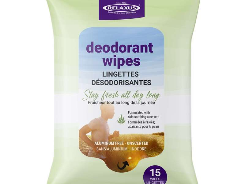 Deodorant Wipes By Relaxus