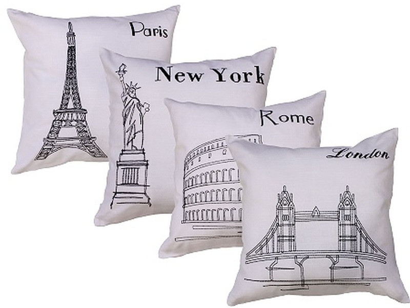 World Postcard Cushions