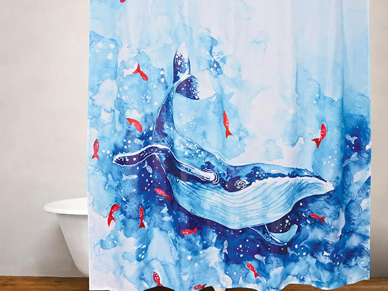 Blue Whale <br>Shower Curtain