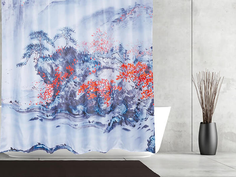 Chinese Painting <br>Shower Curtain