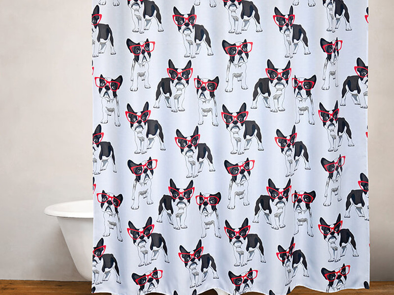 Cool Frenchie <br>Shower Curtain