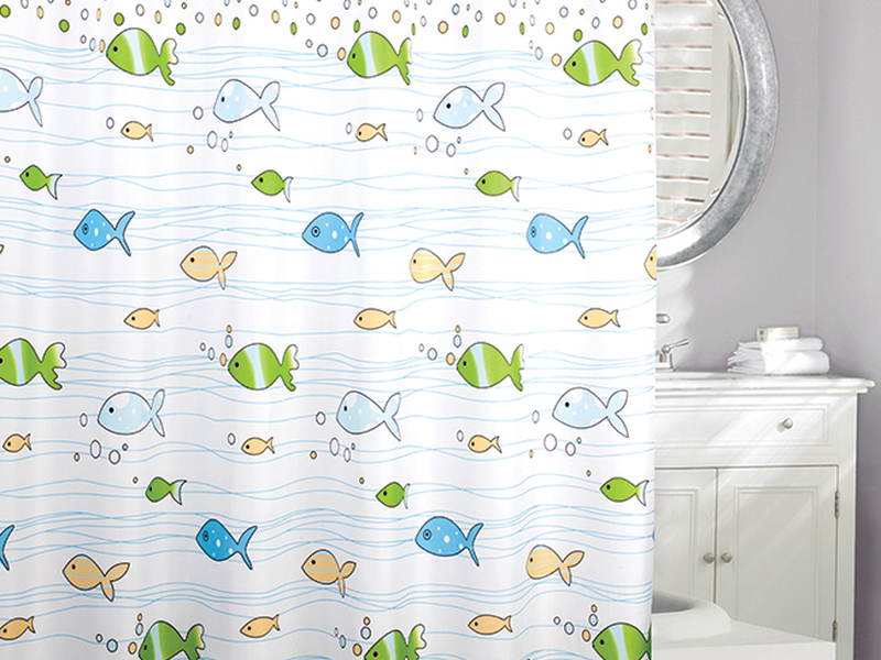 Flow Of Fish <br>Shower Curtain