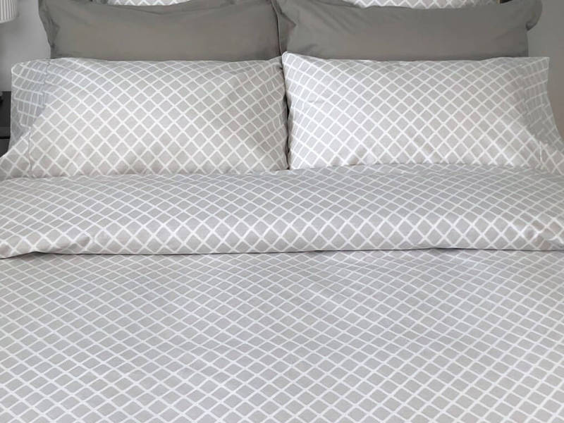 Georgia Diamond Grey Bedding <br>by Cuddle Down