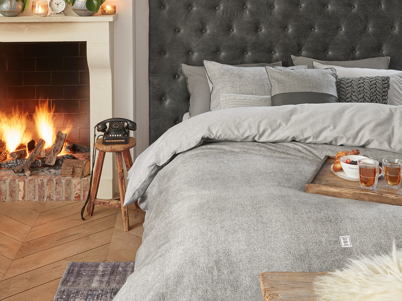 Gingham Grey Bedding <br>by Riviera Maison