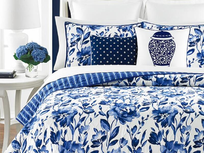 Indigo Rose Quilt <br>by Peace Arch