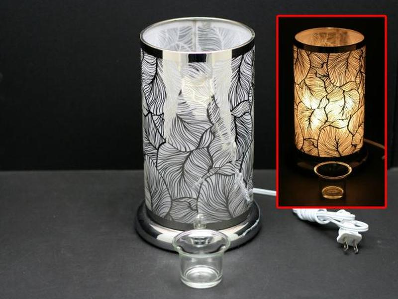 Silver Feather Touch Lamps