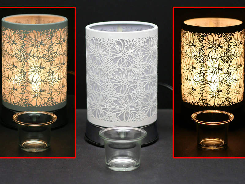 White Flower Touch Lamps