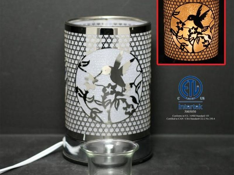 Silver Hummingbird Touch Lamps