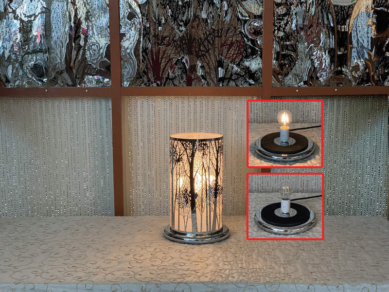 Silver Tree LED Touch Lamps