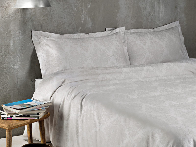 Lyon Silver Bedding by St. Pierre