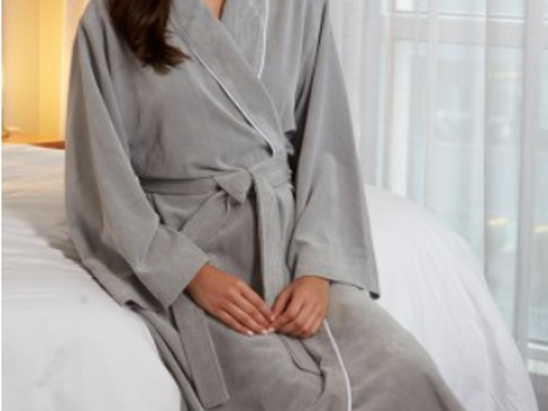 Diamond Microfibre Shawl Robe