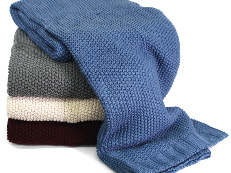 Moss Stitch <br>Throws