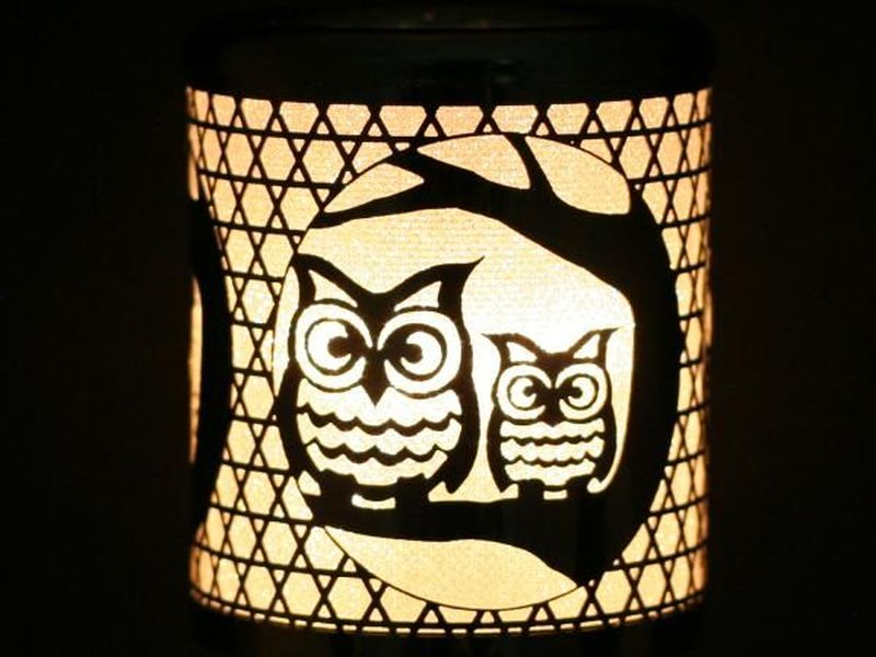 Silver Owls Night Lights