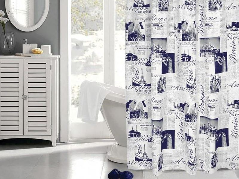 Passport Blue <br>Shower Curtain