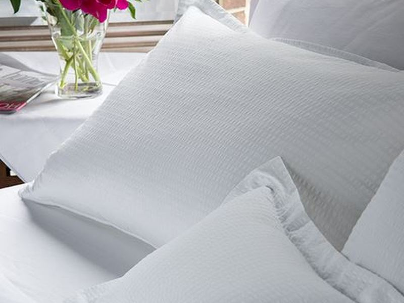 Seersucker White Bedding by Revelle