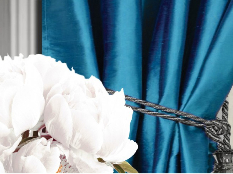 Spun Silk Curtain Panels