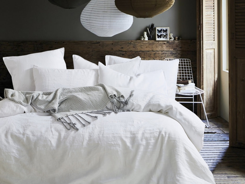 Star White Linen Bedding by Daniadown