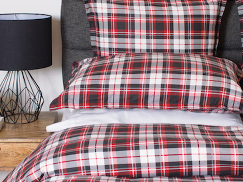 Wallace Red Flannel Bedding by Cuddle Down