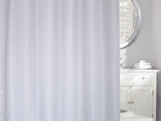 Basketweave<br>Shower Curtain