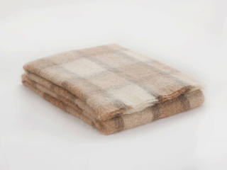 Brushed Mohair Throw Fawn