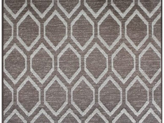 Diamond Taupe Brown Rug