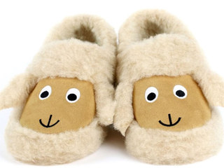 Sheep Face Wool Slippers