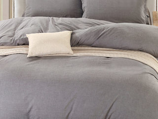 Grey Chambray Bedding by Daniadown