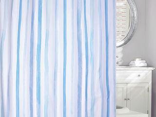 Water Colour Stripe <br>Shower Curtain