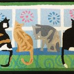 Kitties in Window Jelly Bean Rug