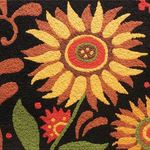 Prairie Sunflowers Jelly Bean Rug
