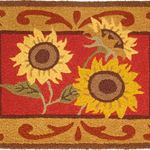 Provence Sunflowers Jelly Bean Rug