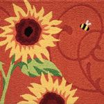 Sunflower Solstice Jelly Bean Rug