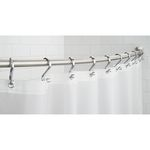 Wall Mount Curved Shower Curtain Rod by Interdesign
