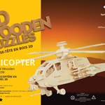 Helicopter 3D Wood Puzzle
