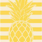 Pineapple Oversized Sculpted Jacquard Beach Towels