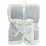 Reversible Chamois Baby Blanket by Honey Bunny