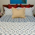 Kissing the Shore- Blue Bayou Bedding by Cover Story
