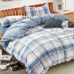 Beach Plaid Duvet Cover Set with Pillowcase by Daniadown