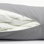 Grey Berwick Bolster Duvet Storage by Alamode Home