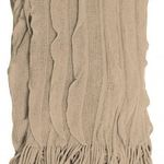 Taupe Cascade Throw by Alamode Home