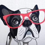 Cool Frenchie Shower Curtain by Moda at Home