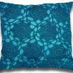 Peacock Handmade Crochet Cushion by Alamode Home