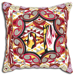 Red Guatemalan Solola Cushion by Alamode Home