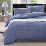Denim Chambray Duvet Cover Set with Pillowcase by Daniadown