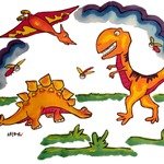 Dino Pillowcase Painting Kit After