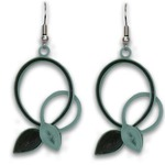 Sage Intertwined Vines Quilling Earrings