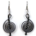Treble Clef Quilling Earrings