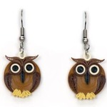 Chocolate Owlet Quilling Earrings
