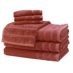 Coral Egyptian Cotton Towels by Daniadown
